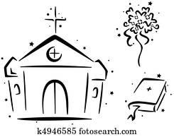 Hochzeit Kapelle Stock Illustration Und Clip Art 158 Hochzeit