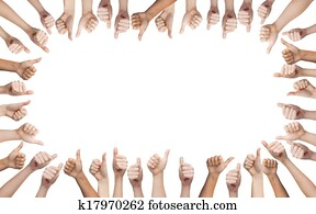 human hands showing thumbs up in circle
