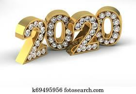 New Year and Diamonds 2020