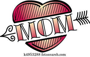 Tattoo Design Heart Mom Clip Art