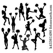 Cheerleader Activity Silhouettes
