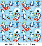 pinguin, tapezieren