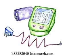 Medical tonometer art