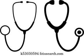 Stethoscope vector icon