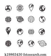 Globe Earth Icons