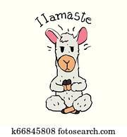 Llamaste - funny llama cartoon