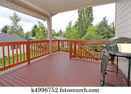 Covered deck near kitchen