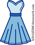 562c515d0c Clip Art of Woman dress code infographic. Cocktail. Female in dressy ...
