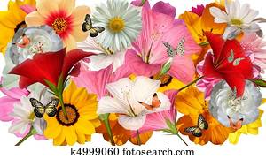 flower collage template 5