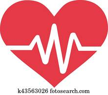 Heart with frequency