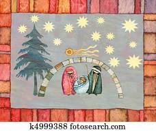 Frohe Weihnachten Mazedonisch.Hut Of The Manger Standartinė Iliustracija K8125197 Fotosearch