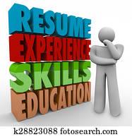 Resume Experience Skills Education Thinker Applying Job Qualifications