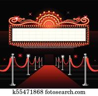 Theater sign movie premiere