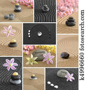zen garden collage