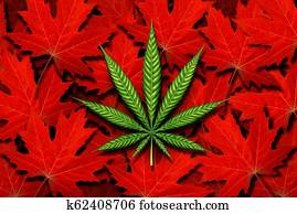 Canada Cannabis Concept