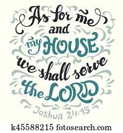 As for me and my house serve the lord bible quote
