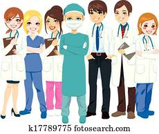 klinikum, medizinische mannschaft