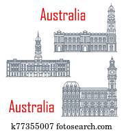 Melbourne and Adelaide general post offices