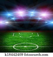 The soccer field.