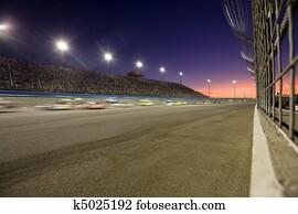 Sunset on the Speedway