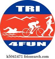triathlon swim bike run race