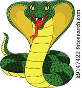 angry cobra snake
