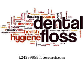 Dental floss word cloud