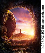 Empty Tomb - Crucifixion And Resurrection Of Jesus Christ