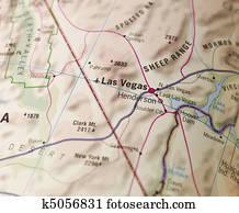 Map of Las Vegas