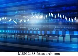 World economics graph. stock market chart . Finance concept