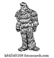 Bigfoot black and white