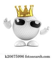 3d Golf ball king