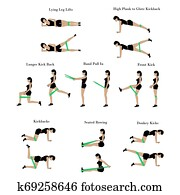 Band exercises workout