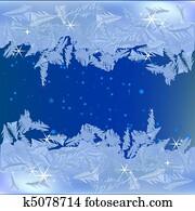 Frozen frost on the window