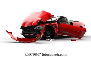 Red car accident