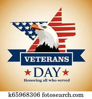 Veterans day greeting card