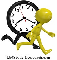 Person clock hurry race run busy day time