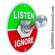 Listen Vs. Ignore - Toggle Switch