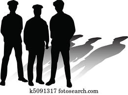 police vector silhouettes