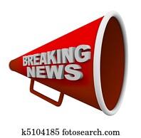 Breaking News - Words on Bullhorn