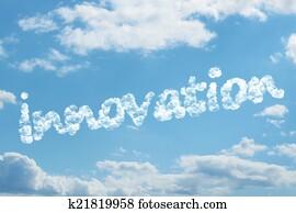 Innovation word on cloud