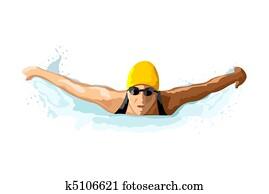 lady swimmer
