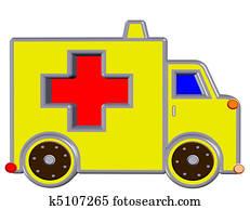 yellow ambulance,