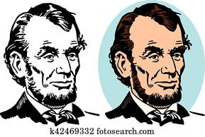 Clip Art Of Abraham Lincoln Cartoon K8363598 Search Clipart