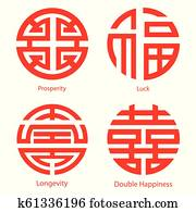 Chinese traditional symbols