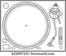 outline vinyl turntable