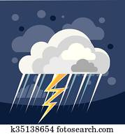 Severe Weather Storm Icon