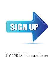 sign up arrow