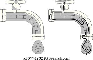 Easy faucet maze