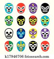 Lucha libre mexican wrestling masks